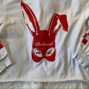Badwood Tops - Badwood Bad Bunny Unisex Long Sleeve Sz S EUC